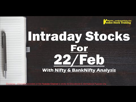 Best Intraday Stock For Tomorrow – 22 Feb | Nifty & Bank-Nifty Levels | Intraday Trading Tips 22 Feb
