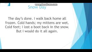 "Lyrics to ""SNOW DAY"""