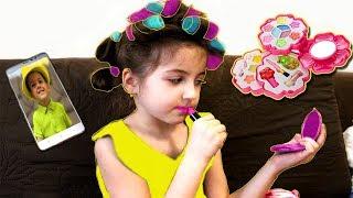 Masha and girl toys