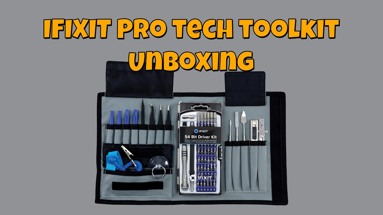 ifixit pro tech toolkit unboxing youtube. Black Bedroom Furniture Sets. Home Design Ideas