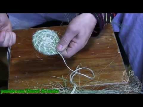 Плетение из травы часть 1