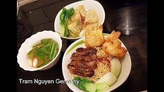 how to cook Wonton Char siu Noodle Soup