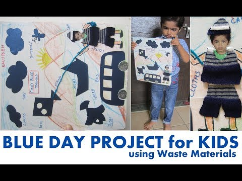 blue-day-school-project-ideas-for-kids--diy-craft-using-waste-materials