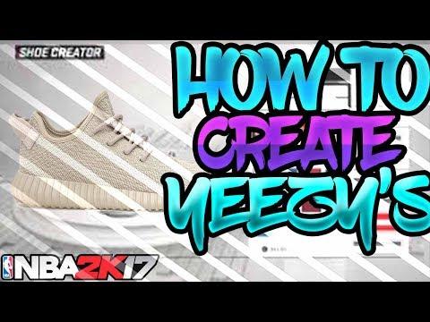 NBA 2K17 - How To Create YEEZYS In NBA 2K17