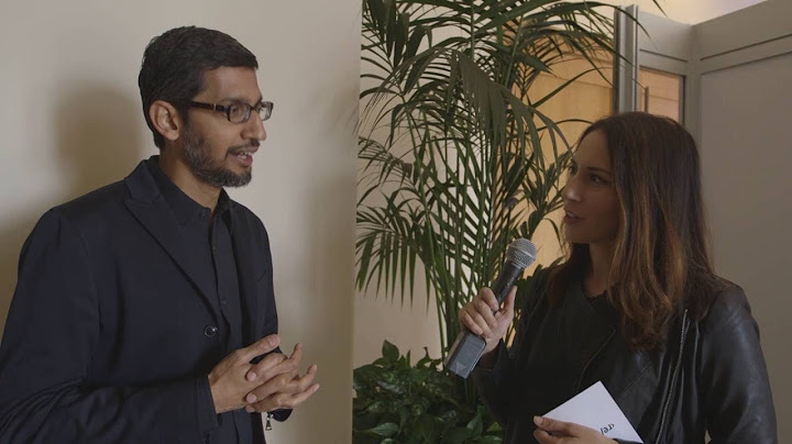 Sundar Pichai's morning routine | Code Conference 2016