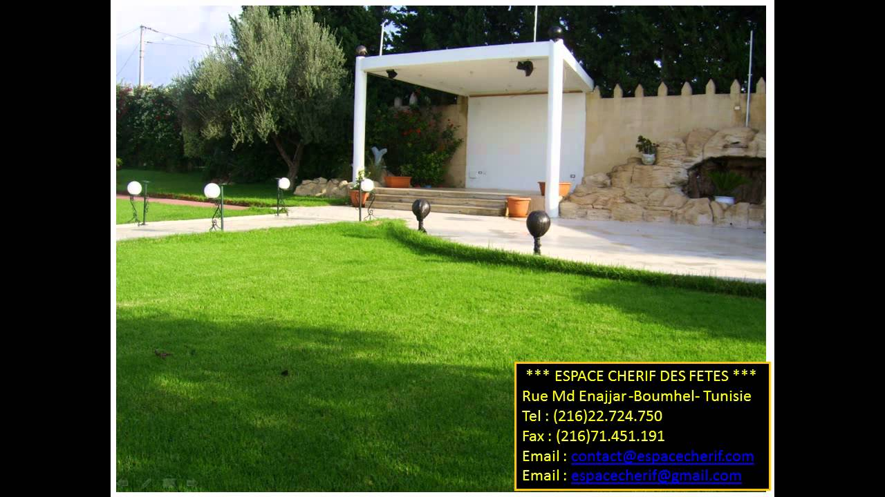 Espace Cherif Des Fetes Boumhel Tunis Youtube