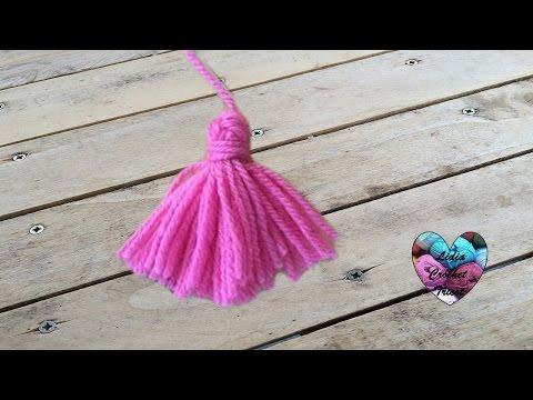 Pompons à franges tricot crochet / Borlas en lana