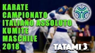 Karate Campionato Assoluto Kumite Maschile 2018 - Tatami 3