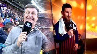 Diego Korol mano a mano con Lionel Messi en #Showmatch30Años
