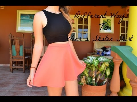 Different Ways To Wear A Skater Skirt