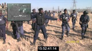 Marikana: Annexure V3 Video presentation on the use of water canon prior to Scene 1 FINAL