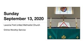 Online Worship Service for September 13, 2020