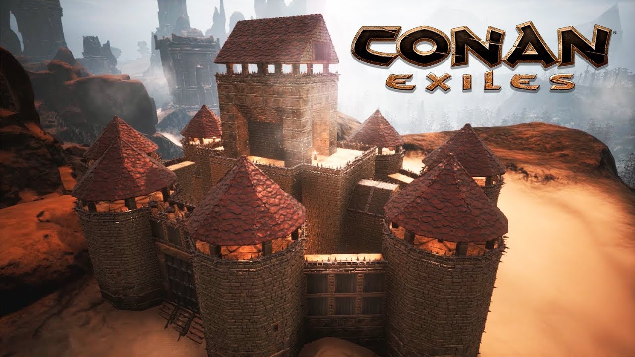 Conan Exiles Building Castle Red Speed Build YouTube