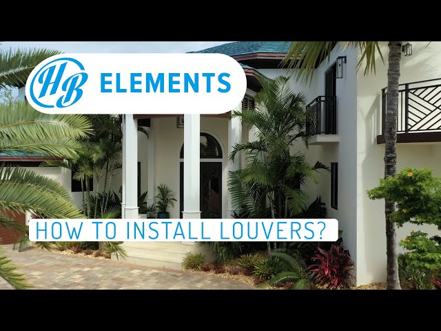 How to Install Louvers/Grilles