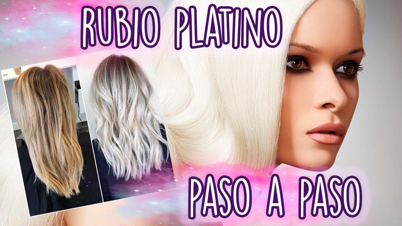 Rubio Platino Paso A Paso Madmoon Peluquería Youtube