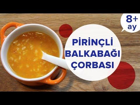 Pirinçli Balkabağı Çorbası | Bebek Yemekleri Tarifleri (8 Ay +)