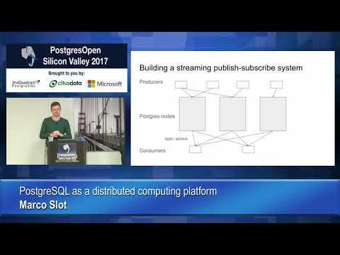 PostgreSQL as a distributed computing platform