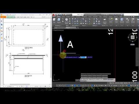 Autocad 2018 - Create 2d table drawing ( Drafting , draftman, dwg design)