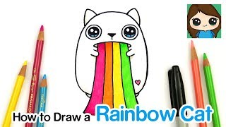 How to Draw a Rainbow Ralphing Cat | Exploding Kittens