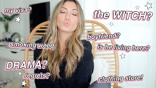 REAL TALK: getting back w my ex, witch updates & my CLOTHING STORE!