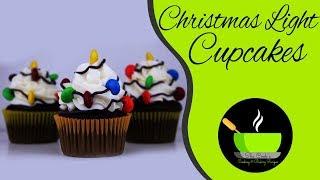 Christmas Light Cupcakes |  No Oven Recipes | Christmas Recipes | Cupcakes Without Oven