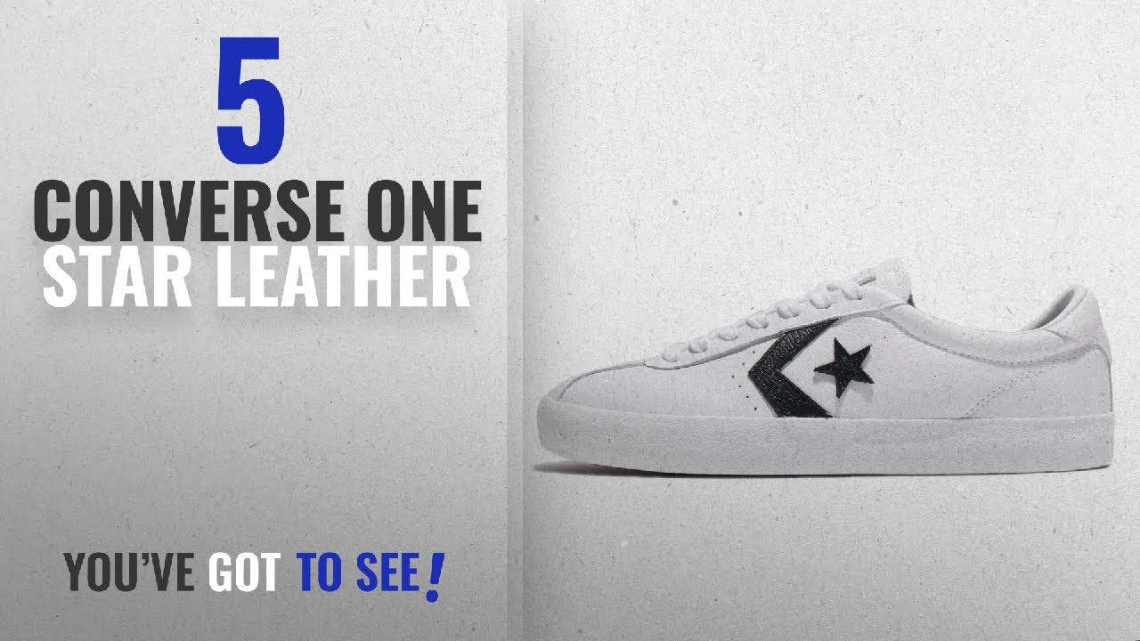3054dcdcb46 Top 5 Converse One Star Leather  2018   Converse Womens Breakpoint Ox White  Black Leather Trainers