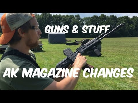 AK magazine change (left and right handed)