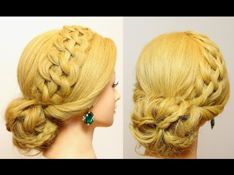 Prom updo. Bridal hairstyles for long medium hair.