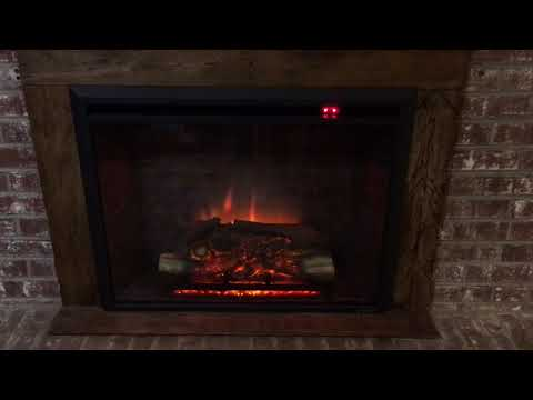 PuraFlame Electric Fireplace Review with DIY Reclaimed Wood Border