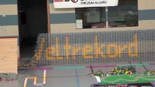 German domino record 2010 with 446,514 dominoes (Part 2 of 2)