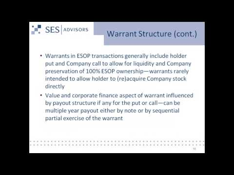 Demystifying Warrants - How & Why are they Used in ESOP Transactions?