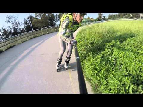 Rolleando en patin dromo metro puebla df youtube for Puerta 9 autodromo