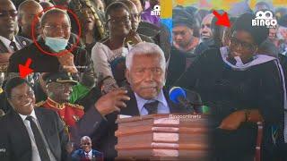Mwinyi Amvunja Mbavu Kikwete na Mke wa Magufuli Msibani Vicheko Waziri mkuu na Rais Wacheka