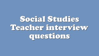 social studies questions I had the chance last week to spend a very fun afternoon with an energetic group of elementary teachers i always enjoy chatting with k-6 folks (i just don't know how they get up every morning and keep going back.