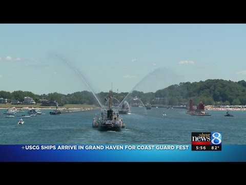 USCG ships arrive in Grand Haven for Coast Guard Fest