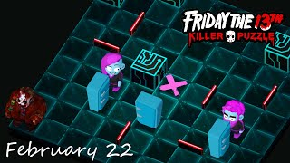 Friday the 13th: Killer Puzzle - Daily Death February 22 Walkthough (iOS, Android Gameplay)