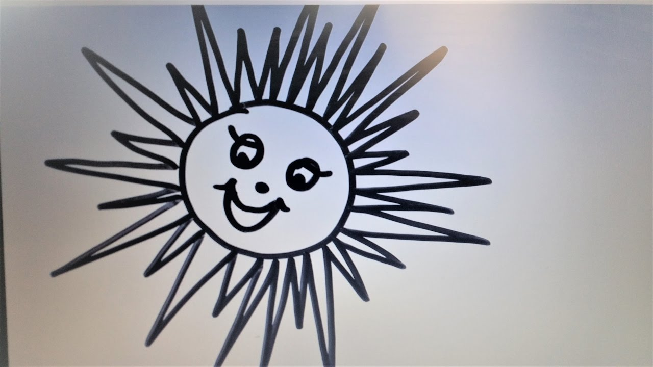 DIY Learn to Draw a Sun. Easy Drawings for Kids. - YouTube