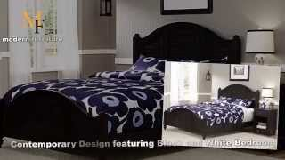 Contemporary Design featuring Black and White Bedroom
