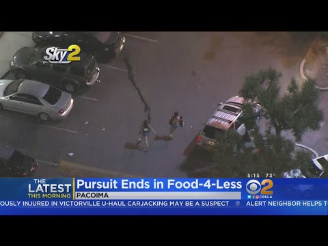 Man, 2 Women Try To Hide In Supermarket After Car Chase