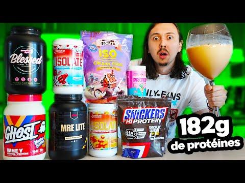 J'ai créé la boisson la plus protéinée du monde (182 grammes d'un coup)