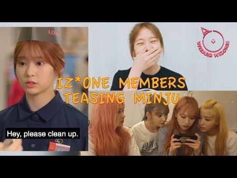 IZ*ONE Members Teasing Minju Compilation