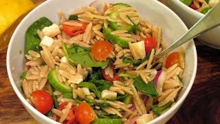 Orzo Salad -- The Frugal Chef