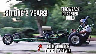 670cc Drag Rail Revival! | Our 55HP Harbor Freight Engine Rail Kart Returns!