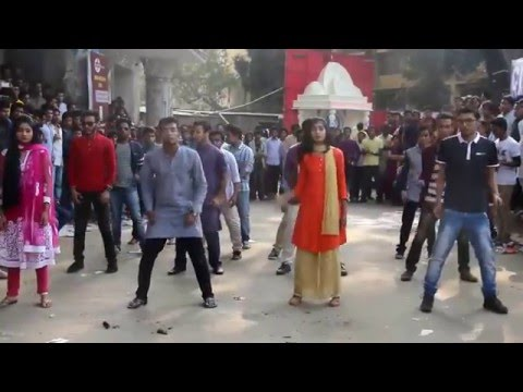 Flash mob of Mkt Jnu (Boshonto & sharswati puja)