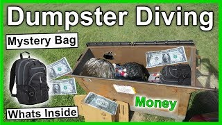 Wow Found Money Inside Mystery Bag Dumpster Diving #290