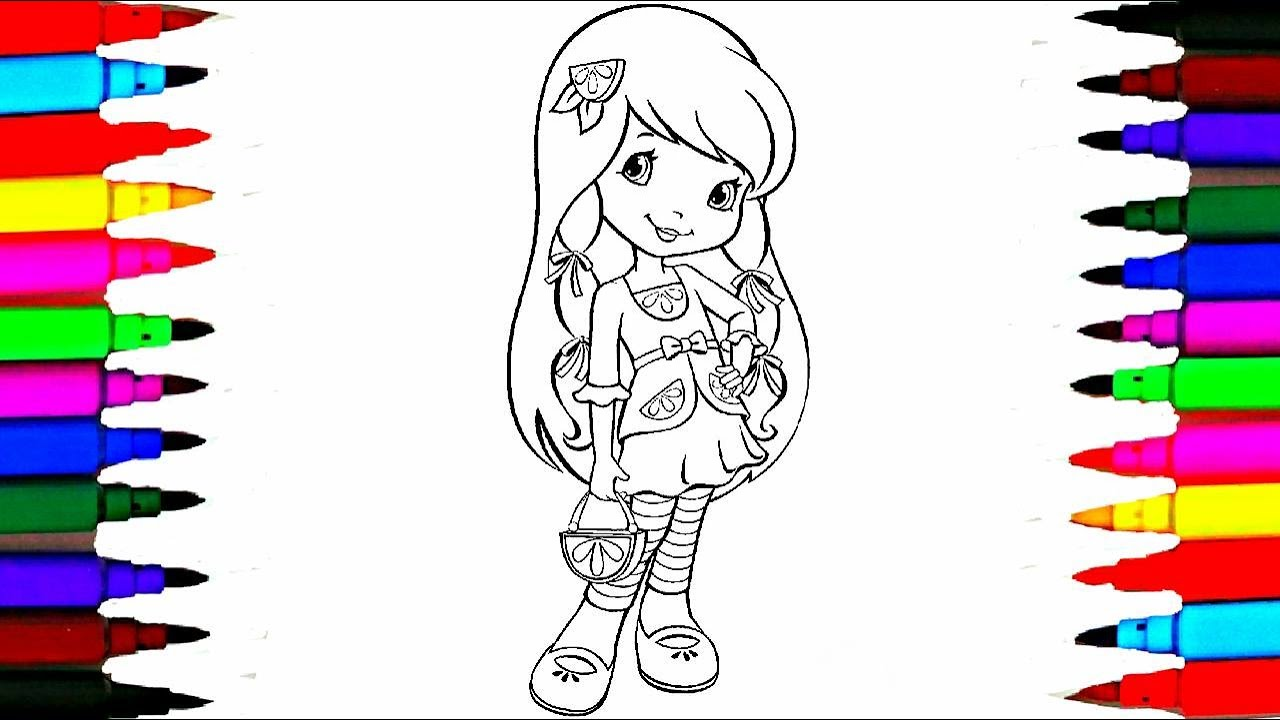 how to draw strawberry shortcake lemon meringue coloring