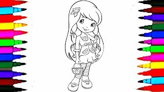 How To Draw Strawberry Shortcake Lemon Meringue Coloring Pages l Videos for Children l Learn Colours
