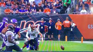 Mitchell Trubisky Chicago Bears Scary Arm Injury Vs Vikings