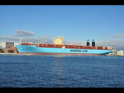 Majestic Maersk at Copenhagen Harbour in 2013.