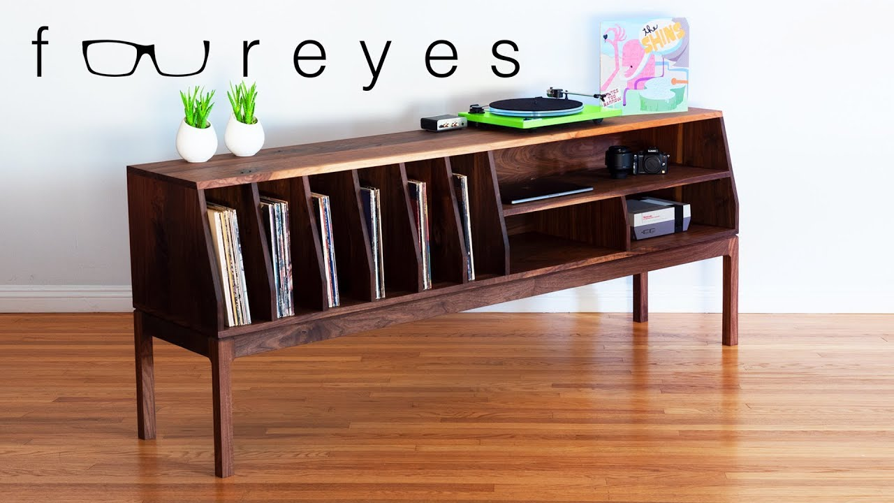 how to make a tv stand record player console. Black Bedroom Furniture Sets. Home Design Ideas